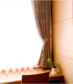 部屋のデザインはピンク主体